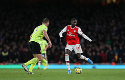 Nicolas Pepe of Arsenal passes the ball - Mandatory by-line: Arron Gent/JMP - 18/01/2020 - FOOTBALL - Emirates Stadium - London, England - Arsenal v Sheffield United - Premier League
