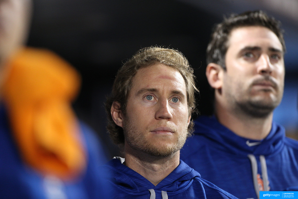 NEW YORK, NEW YORK - October 5: Ty Kelly #56 of the New York Mets during the San Francisco Giants Vs New York Mets National League Wild Card game at Citi Field on October 5, 2016 in New York City. (Photo by Tim Clayton/Corbis via Getty Images)