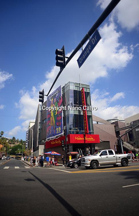 Hollywood Boulevard in Los Angeles, California.
