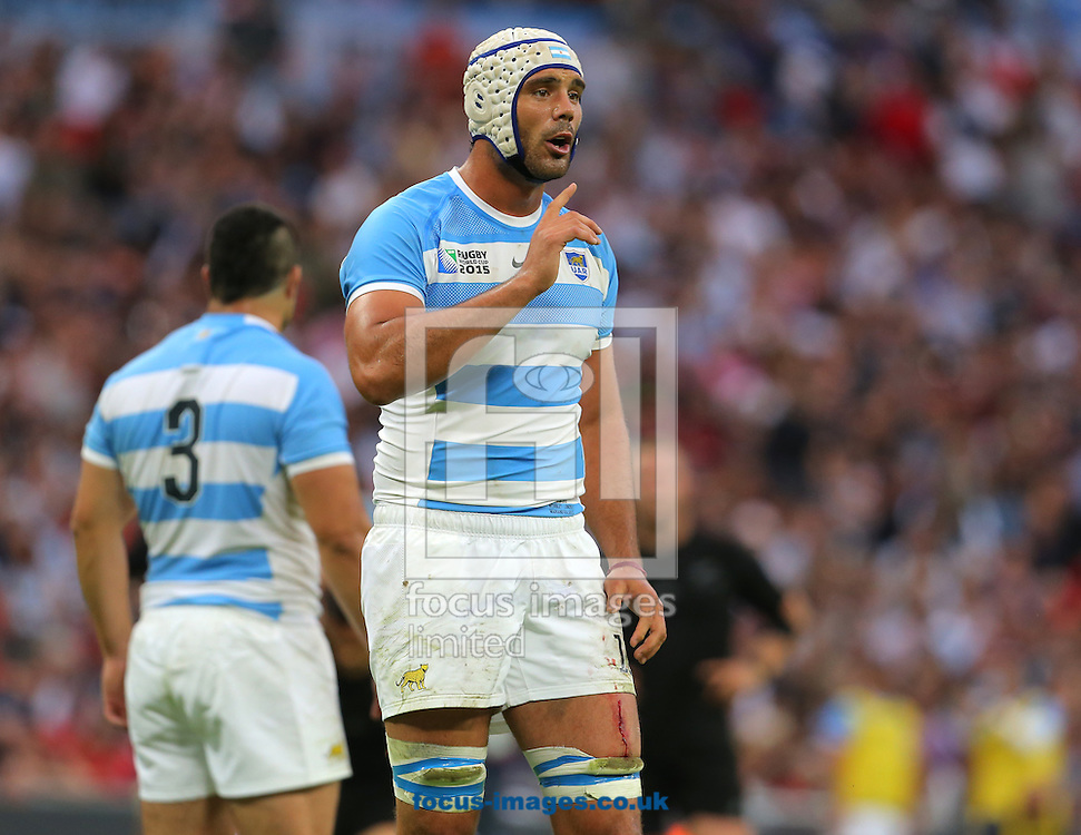 Mariano Galarza of Argentina during the 2015 Rugby World Cup match at Wembley Stadium, London<br /> Picture by Paul Terry/Focus Images Ltd +44 7545 642257<br /> 20/09/2015