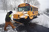 Bus Crash in Snow