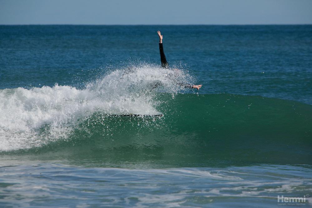Surfing @ Rockingham beach, Perth.