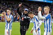 Huddersfield Town's Head Coach David Wagner applauds the fans at full time during the Premier League match between Huddersfield Town and West Bromwich Albion at the John Smiths Stadium, Huddersfield, England on 4 November 2017. Photo by Paul Thompson.