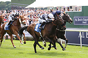 GILGAMESH (9) ridden by jockey Edward Greatrex and trained by George Scott winning The Constant Security Handicap Stakes over 7f (£25,000)at York Racecourse, York, United Kingdom on 26 May 2018. Picture by Mick Atkins.
