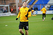 Southend United striker Simon Cox (10) warming up before the EFL Sky Bet League 1 match between Peterborough United and Southend United at London Road, Peterborough, England on 3 February 2018. Picture by Nigel Cole.