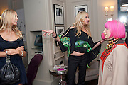 LISA HENRIKSON; NOELLE RENO; ZANDRA RHODES, Z By Zandra Rhodes, COLLECTION BY NOELLE RENO FOR ZANDRA RHODES. .  - launch party, The Arch Hotel, 50 Great Cumberland Place, London W1,