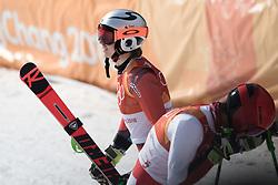 February 18, 2018 - Pyeongchang, SOUTH KOREA - 180218 Henrik Kristoffersen of Norway celebrates after Alpine Skiing Men's Giant Slalom during day nine of the 2018 Winter Olympics on February 18, 2018 in Pyeongchang..Photo: Joel Marklund / BILDBYRN / kod JM / 87633 (Credit Image: © Joel Marklund/Bildbyran via ZUMA Press)