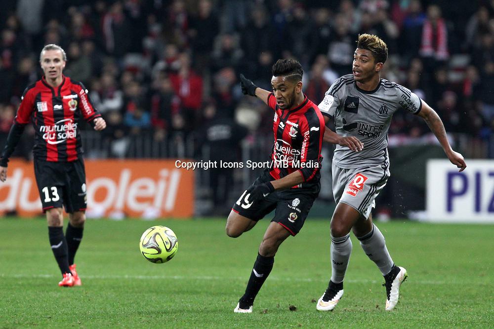 Jordan AMAVI / Mario LEMINA - 23.01.2015 - Nice / Marseille - 22eme journee de Ligue 1<br />Photo : Jean Christophe Magnenet / Icon Sport