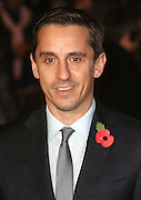 November 9, 2015 - Gary Neville attending The World Premiere of 'Ronaldo' at Vue West End, Leicester Square in London, UK.<br /> ©Exclusivepix Media