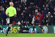 Goal - Joshua King (17) of AFC Bournemouth celebrates scoring a goal to give a 3-0 lead to the home team during the Premier League match between Bournemouth and Chelsea at the Vitality Stadium, Bournemouth, England on 30 January 2019.