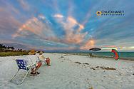 Unusual cloud rainbow over the beach on Sanibel Island, Florida, USA