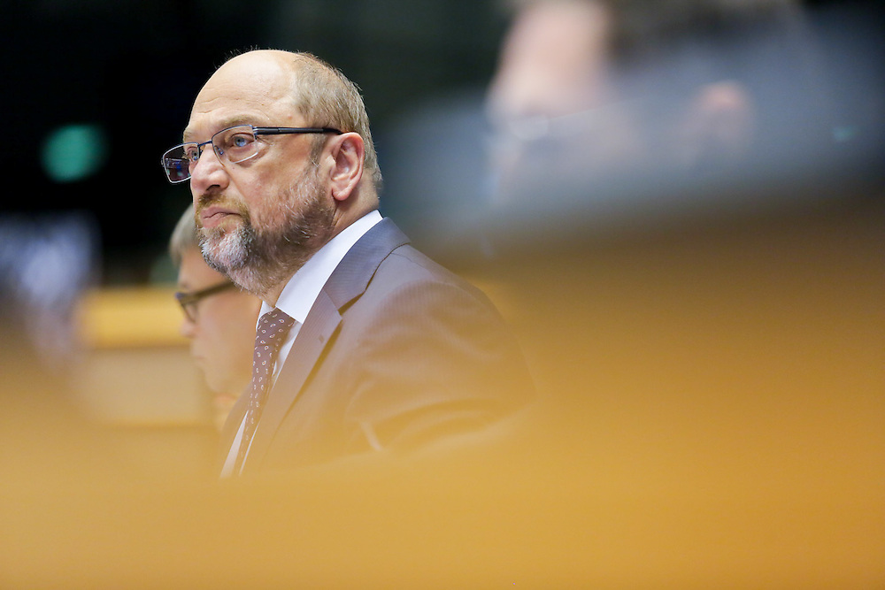 Martin SCHULZ - EP President attends the opening of the plenary session week 38 in Brussels