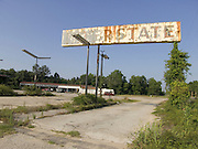 abandoned gasoline station sign along route 301 Georgia border South Carolina USA