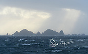 The rough waters that surround Cape Horn, Hornos Island, part of the Tierra del Fuego archipelago of Chile.