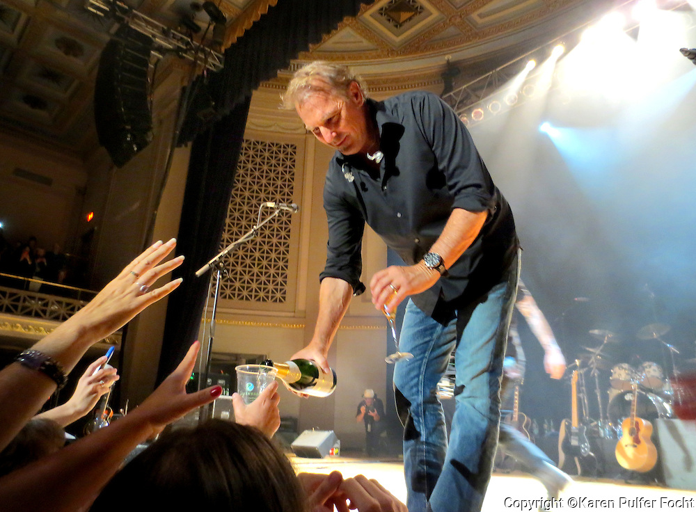 April 26, 2014 - Kevin Costner greets fans following his show with his band Modern West  in Nashville, Saturday night at the War Memorial Stadium. His daughter Lily Costner performed with him.  Photo by Karen Pulfer Focht