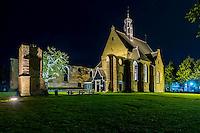 Noord-Holland bij nacht, aankleding, bergen prachtstad