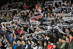 © Licensed to London News Pictures. 24/7/2013. Melbourne Victory supporters  during the Melbourne Victory Vs Liverpool F.C at the Melbourne Cricket Ground, Melbourne, Australia. Photo credit : Asanka Brendon Ratnayake/LNP