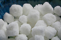 White rough sugar lumps