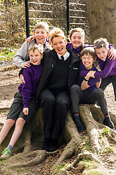 Pictured: Danny Johnston, Matthew Myddelton, Isla Wilkie, Rodd Hibberd and  Jack Flockhart (pigeon rescuers all aged 11) with Lee Williams, Education Officer.<br /> <br /> The Scottish SPPA launched the education programme at Buckstone Primary School in Edinburgh today. The animal welfare charity's head of education and policy Gilly Mendes Ferreira and Dr Jo Williams, senior lecturer in clinical and health psychology, came along to start the programme at the school. P1 girls held a &ldquo;dress up as your favourite animal day&rdquo; on Friday and raised &pound;417.50which was presented a cheque to Lee Williams, Education Officer, of the Scottish SPCA.  Isla Wilkie and the boys found a pigeon in the playground trapped between the fence and a neighbours fence. They called the Scottish SPCA (Isla did) as they remembered the phone number from a recent education visit by Scottish SPCA.<br /> <br /> Ger Harley | EEm 1 March 2017