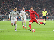 Leon Goretzka of Bayern Munich during the Champions League round of 16, leg 2 of 2 match between Bayern Munich and Liverpool at the Allianz Arena stadium, Munich, Germany on 13 March 2019.