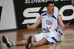 Matej Krusic of Helios Domzale at basketball game Geoplin Slovan - Helios Domzale in in the second match of quarter-final of Spar Cup, on February 7, 2008 in Ljubljana, Slovenia.   (Photo by Vid Ponikvar / Sportal Images).