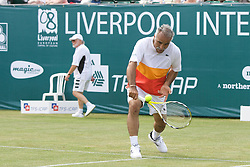 Liverpool, England - Tuesday, June 12, 2007: Mansour Bahrami in action on day one of the Liverpool International Tennis Tournament at Calderstones Park. For more information visit www.liverpooltennis.co.uk. (Pic by David Rawcliffe/Propaganda)