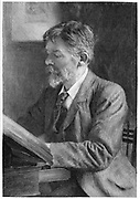 George Du Maurier (1834-1896) French-born English illustrator, cartoonist and novelist. Father of actor-manager Gerald Du Maurier, grandfather of novelist Daphne Du Maurier. Engraving c1890.