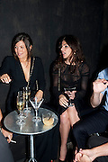 AMANDA SHEPPARD; JULIA RESTOIN-ROITFELD, The Summer party 2011 co-hosted by Burberry. The Summer pavilion designed by Peter Zumthor. Serpentine Gallery. Kensington Gardens. London. 28 June 2011. <br /> <br />  , -DO NOT ARCHIVE-© Copyright Photograph by Dafydd Jones. 248 Clapham Rd. London SW9 0PZ. Tel 0207 820 0771. www.dafjones.com.