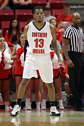 08 November 2015: Terrence Tisdell(13). Illinois State Redbirds host the Southern Indiana Screaming Eagles and beat them 88-81 in an exhibition game at Redbird Arena in Normal Illinois (Photo by Alan Look)