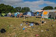 Evidence of the night before - The 2017 Latitude Festival, Henham Park. Suffolk 16 July 2017