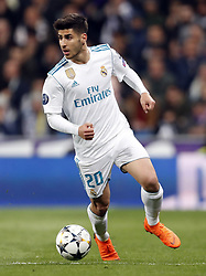 Marco Asensio of Real Madrid during the UEFA Champions League quarter final match between Real Madrid and Juventus FC at the Santiago Bernabeu stadium on April 11, 2018 in Madrid, Spain