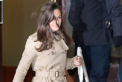 © Licensed to London News Pictures. 05/12/2012. London, UK. Pippa Middleton, sister of Kate, Duchess of Cambridge, leaves the King Edward VII Hospital in London today (05/12/12) after visiting her sister, who is staying at the hospital after being diagnosed with hyperemesis gravidarum, a severe form of morning sickness. Photo credit: Matt Cetti-Roberts/LNP
