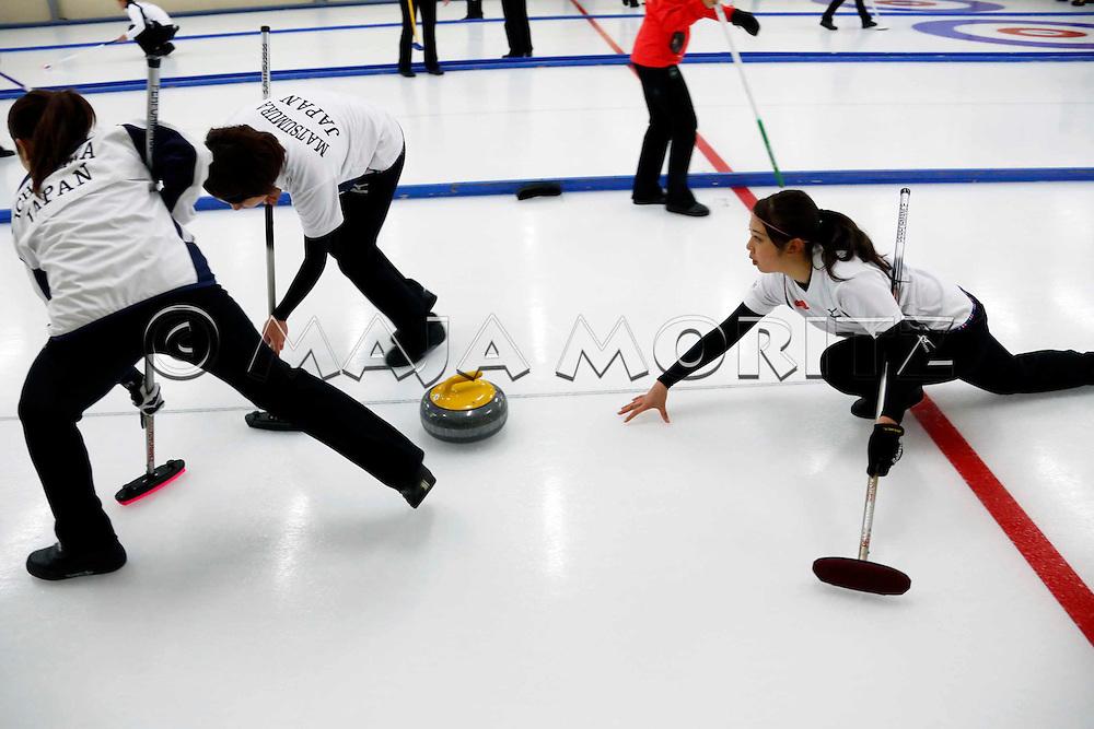 Japan, women's team, from left Miyo ICHIKAWA, Chiaki MATSUMURA, Emi SHIMIZU,