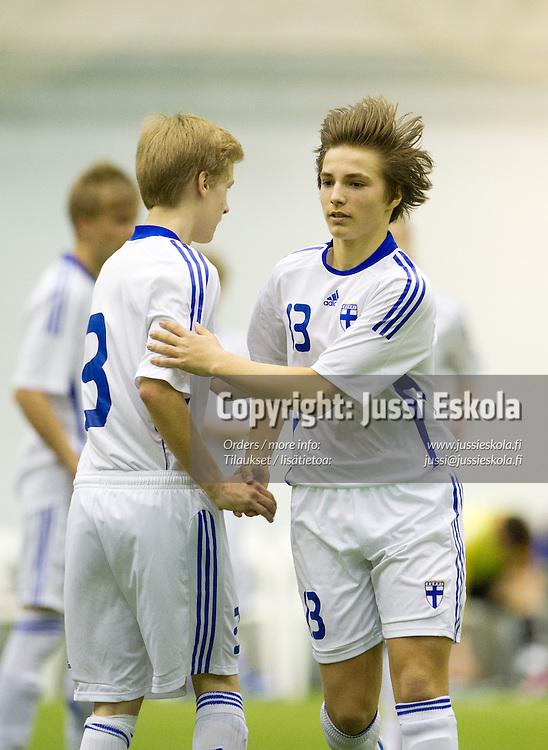 Pyry Suonpää. Suomi - Slovakia. U15. S. 1997-. Eerikkilä 20.3.2012. Photo: Jussi Eskola