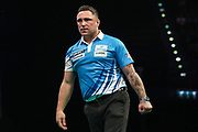 Gerwyn Price during the PDC Premier League Darts at Arena Birmingham, Birmingham, United Kingdom on 25 April 2019.