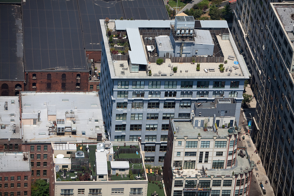 Brooklyn: Buildings with active multi-use rooftops.