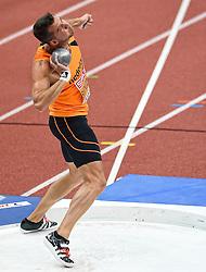 07-03-2015 CZE: European Athletics Indoor Championships, Prague<br /> Meerkamper Eelco Sintnicolaas op het onderdeel kogelstoten