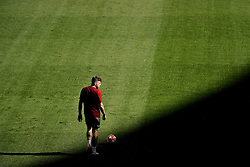 MADRID, SPAIN - Friday, May 31, 2019: Liverpool's Alberto Moreno during a training session ahead of the UEFA Champions League Final match between Tottenham Hotspur FC and Liverpool FC at the Estadio Metropolitano. (Pic by Handout/UEFA)