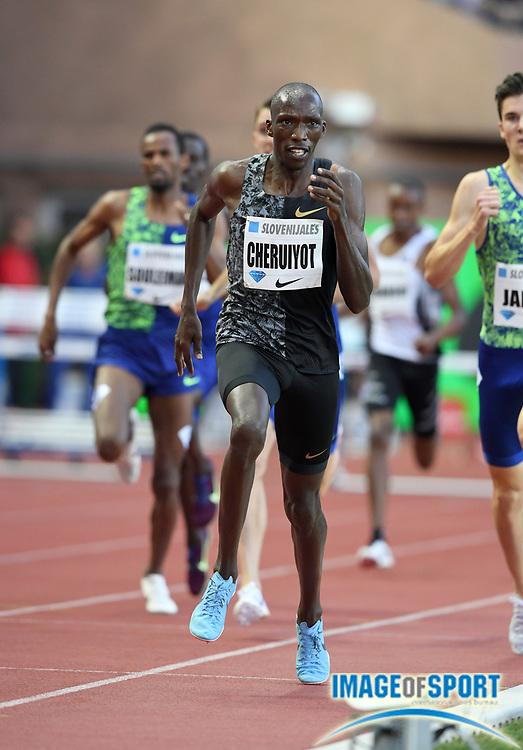 Timothy Cheruiyot (KEN) wins the 1,500m in 3:29.97 during the Herculis Monaco in an IAAF Diamond League meet at Stade Louis II stadium in Fontvieille, Monaco on Friday, July 12, 2019. (Jiro Mochizukii/Image of Sport)