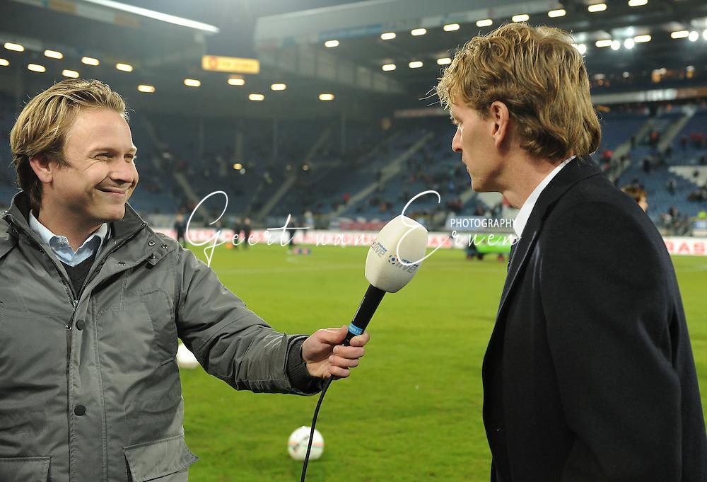 21-02-2009 Voetbal:SC Heerenveen:Willem II:Heerenveen<br /> Eredivisie Live interviewt de nieuwe trainer van Willem II Fons Groenendijk<br /> Foto: Geert van Erven