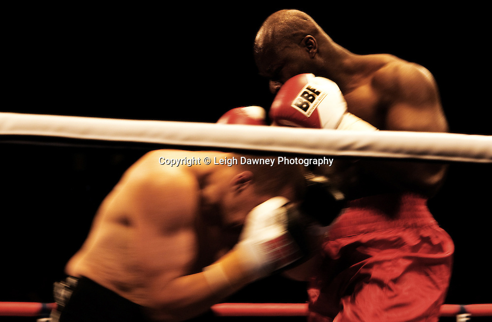 Larry Olubamiwo v Norbert Sallai at the Brentwood Centre UK on 11th September 2009 Promoter Frank Maloney. Credit: ©Leigh Dawney Photography