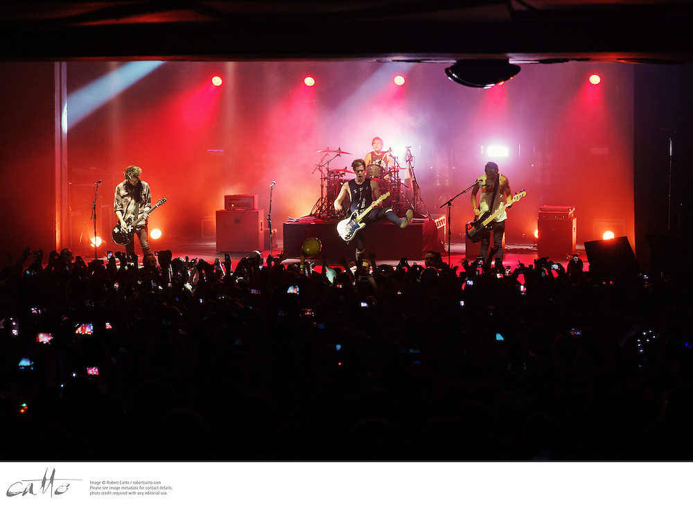 5 Seconds Of Summer performing live at the Enmore Theatre, on Monday 5 May 2014.