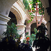 Interior of Convento de Oaxaca now Camino Real hotel. Oaxaca, Mexico.