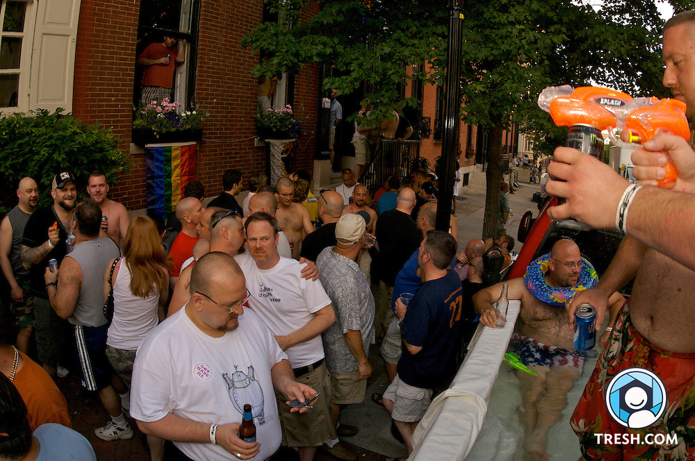 Men attend a Baltimore Gay Pride Bear Party, Saturday, June 16, 2007, in Baltimore, MD.