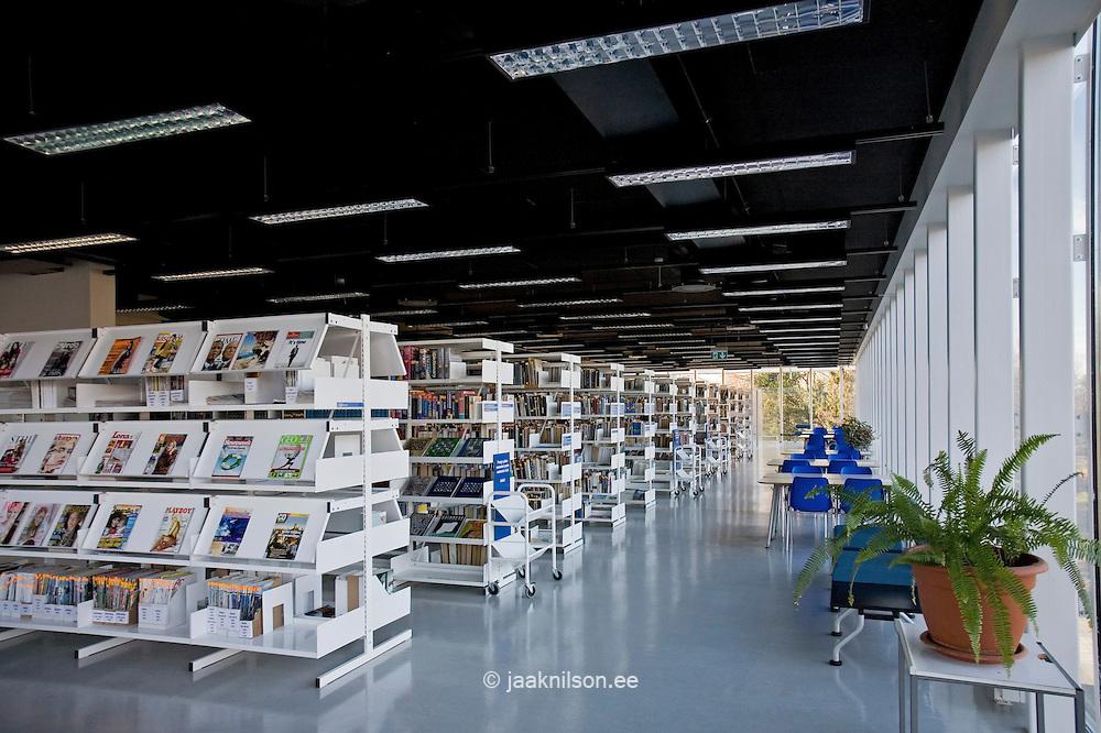 Pärnu Public Library in Estonia Modern building of Pärnu library, Estonia.