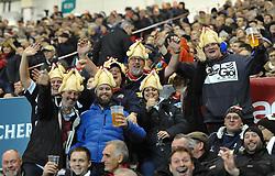 Bristol Rugby supporters - Mandatory by-line: Paul Knight/JMP - 22/12/2017 - RUGBY - Ashton Gate Stadium - Bristol, England - Bristol Rugby v Cornish Pirates - Greene King IPA Championship