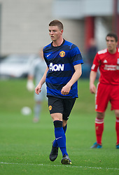LIVERPOOL, ENGLAND - Friday, October 14, 2011: Manchester United's Jack Barmby during the FA Premier League Academy match at the Kirkby Academy. (Pic by David Rawcliffe/Propaganda)