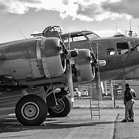 B-17 and B-24 visiting Santa Fe Airport