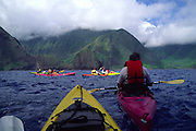 Kayaking North Shore of Molokai<br />