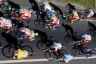 Athletes compete in stage twelve of the Vuelta al Tachira cycling race in San Cristobal, Venezuela on Thursday, Jan. 17, 2008. Local and international teams will ride over 1580 kilometers and climb a 1500 meter altitude differential throughout the competition. The grueling, 13-stage race through the Andes mountains is hailed as the premier cycling event in South America.....